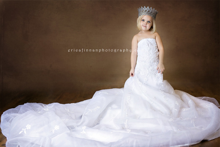 Daughters in their mothers wedding dresses