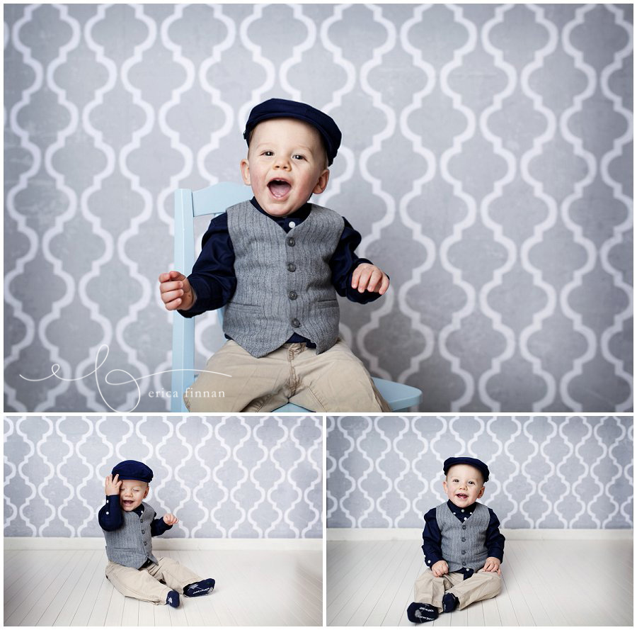One Year Old Boy Photo Session In Galion Ohio Photography Studio