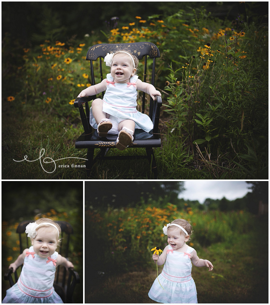1 year old girl, outdoor photo session