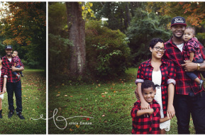 Family of four outdoor photo session