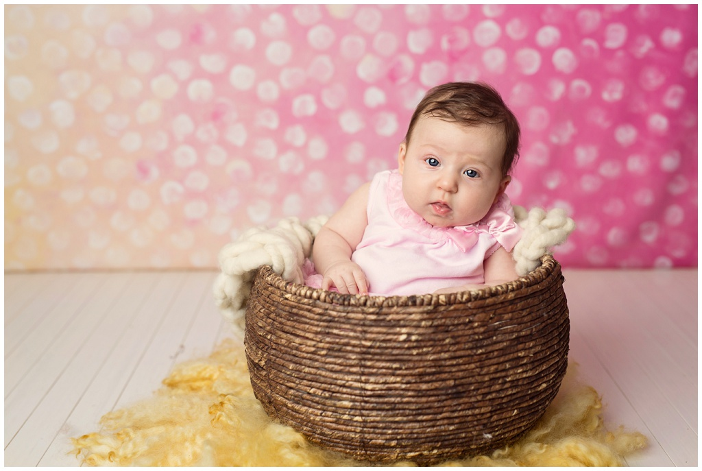 d0791a649bd5 Three month old in Galion Ohio photography studio