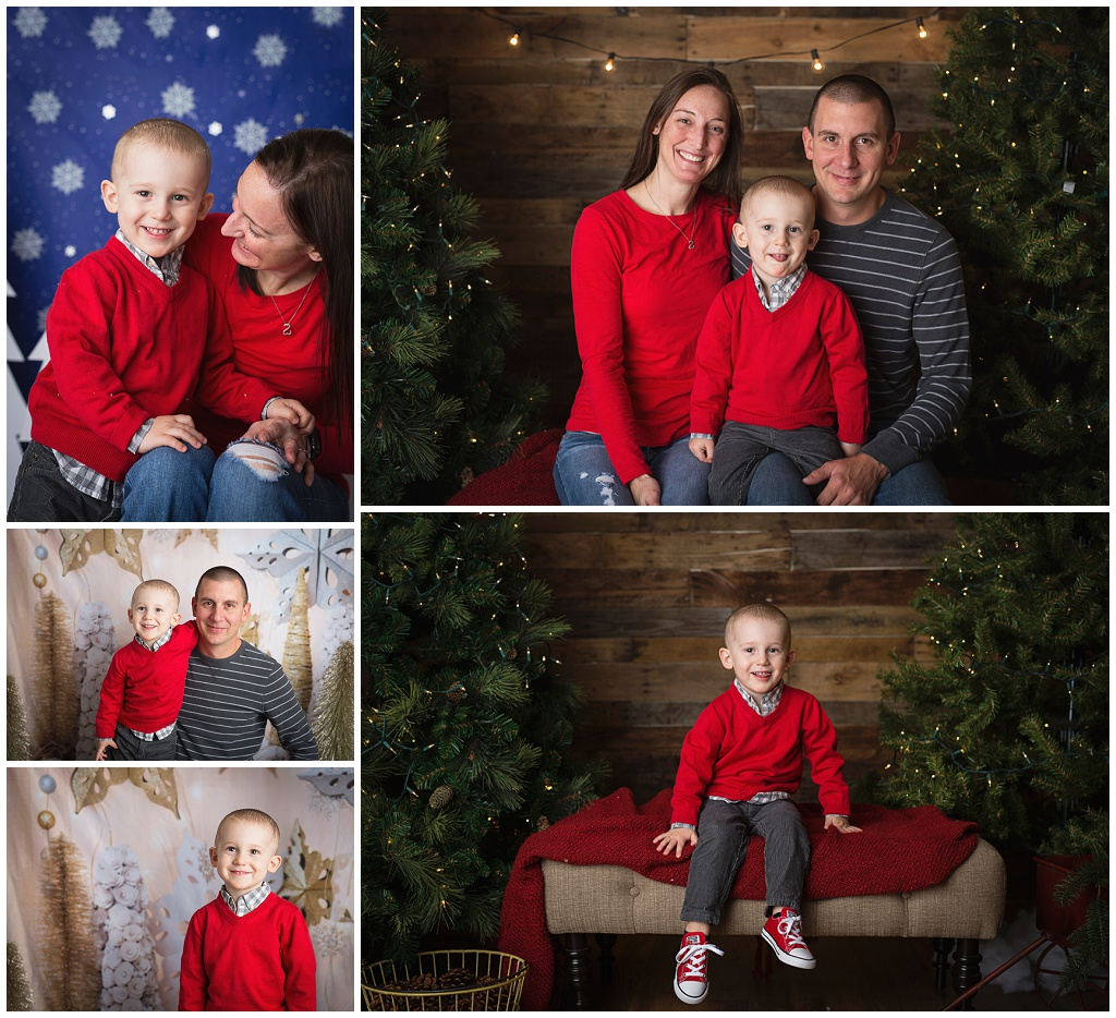 how to set up christmas mini session